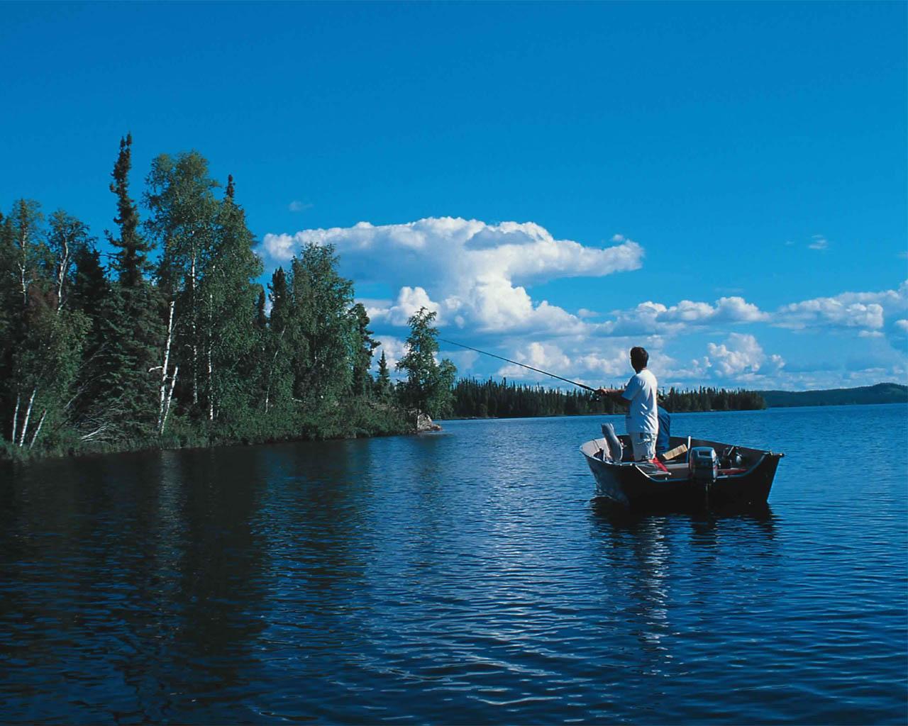 фото про рыбалку на лодке